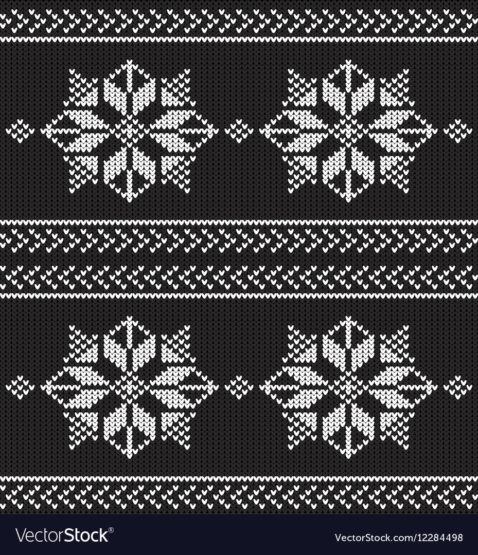 Black and white knitted background
