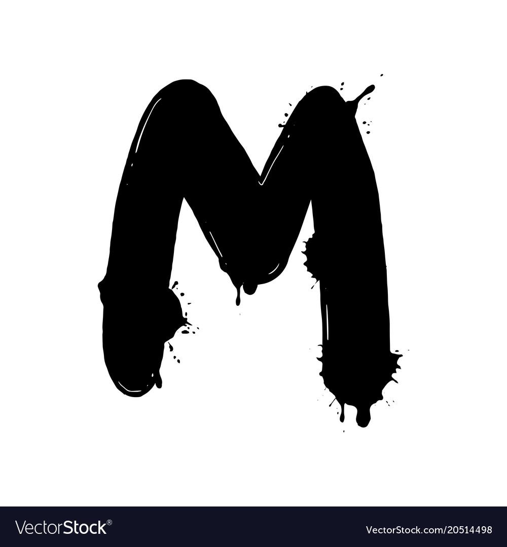 Blot letter m black and white