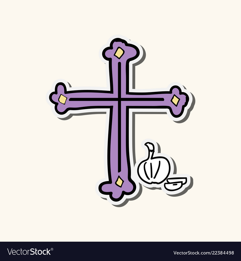 set of icons of christian and catholic crosses