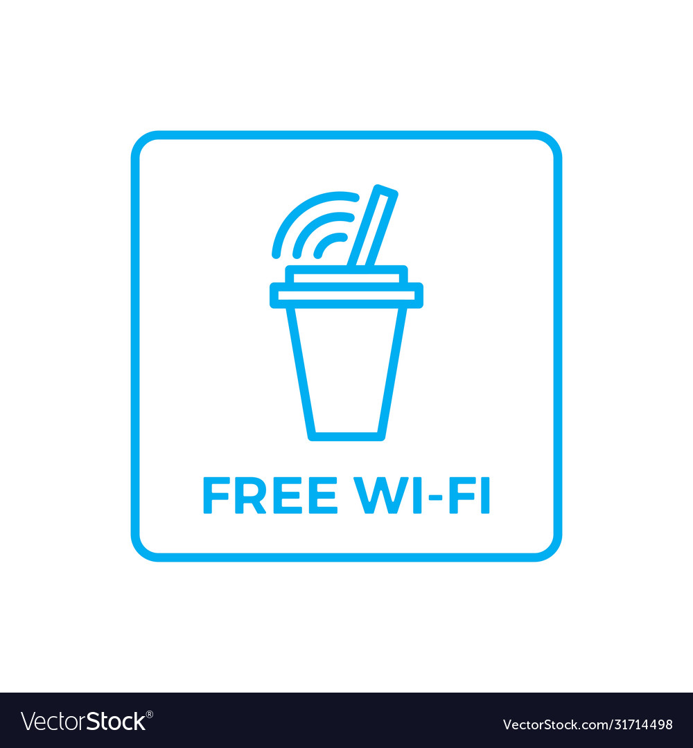 Free wifi wi-fi wi fi sign for drink store shop