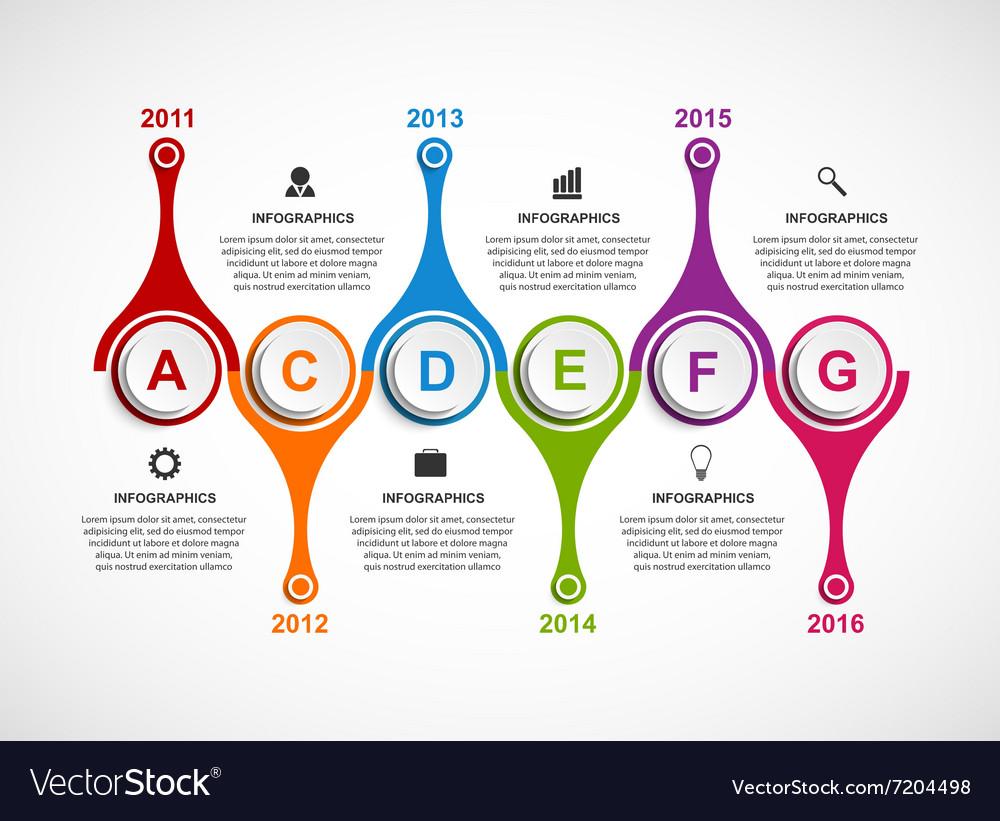 Infographics design template Timeline concept