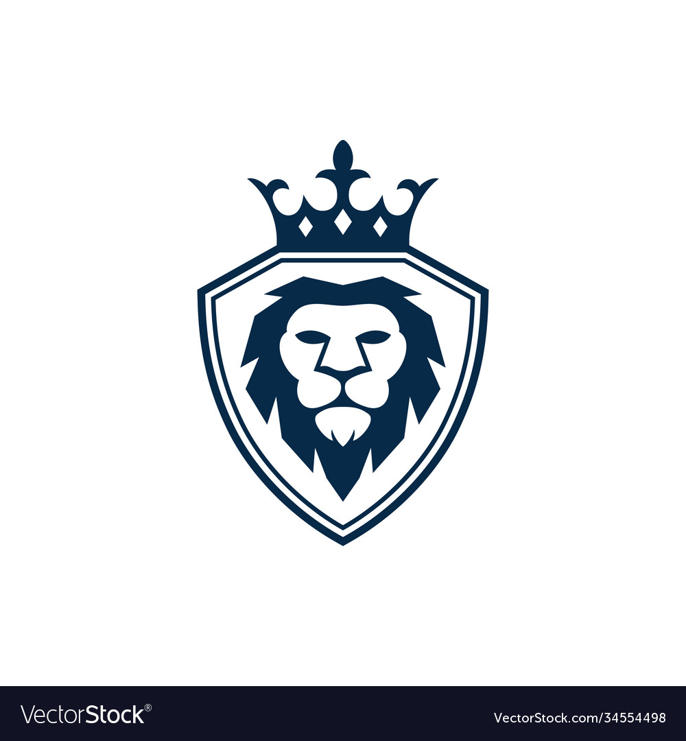Lion king icon design template isolated