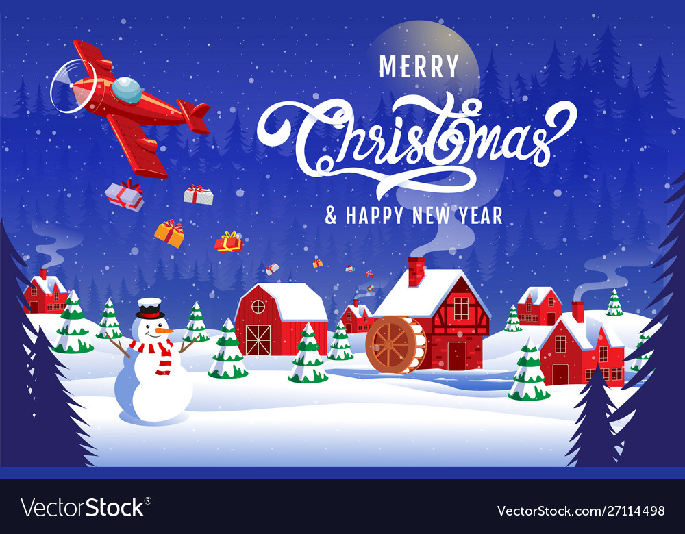Christmas Happy New Year 2020 Merry christmas happy new year 2020 Royalty Free Vector