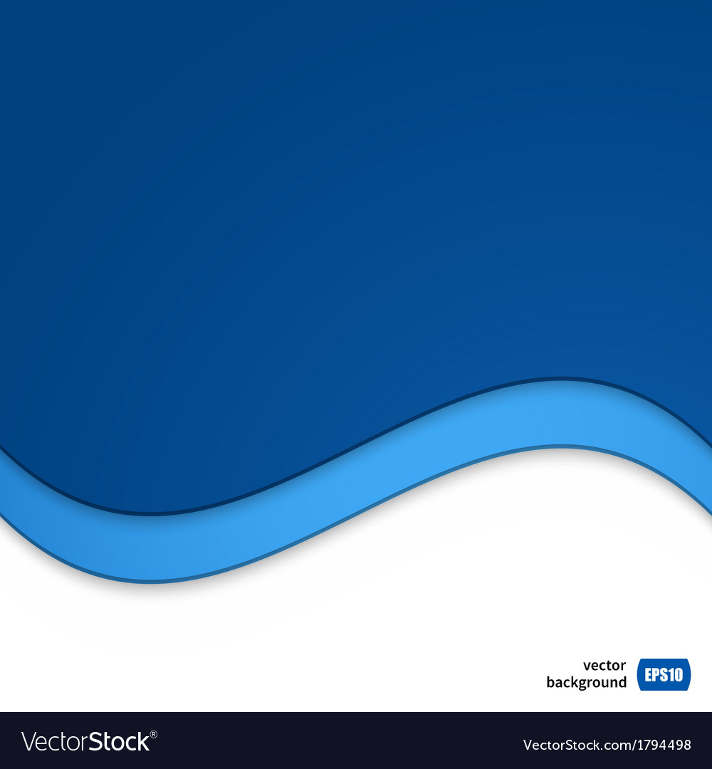 Wave template for your business presentation vector image