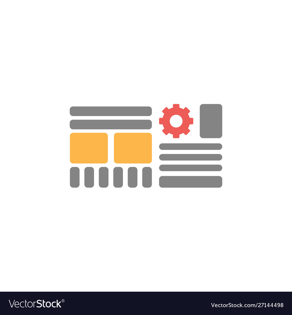 Web grid icon wireframe sign