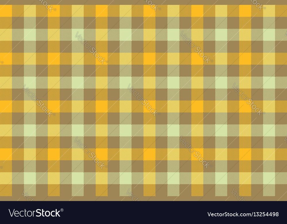 Yellow brown check fabric texture background
