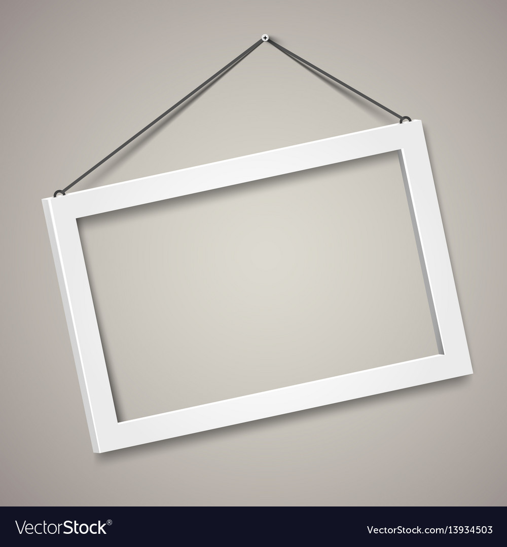 3d picture frame design for a4 image or Royalty Free Vector