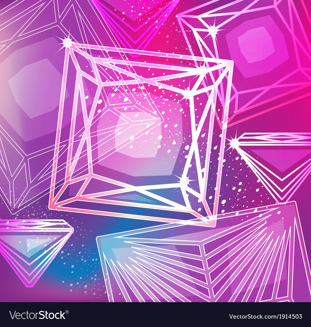 Abstract magenta background with linear diamonds