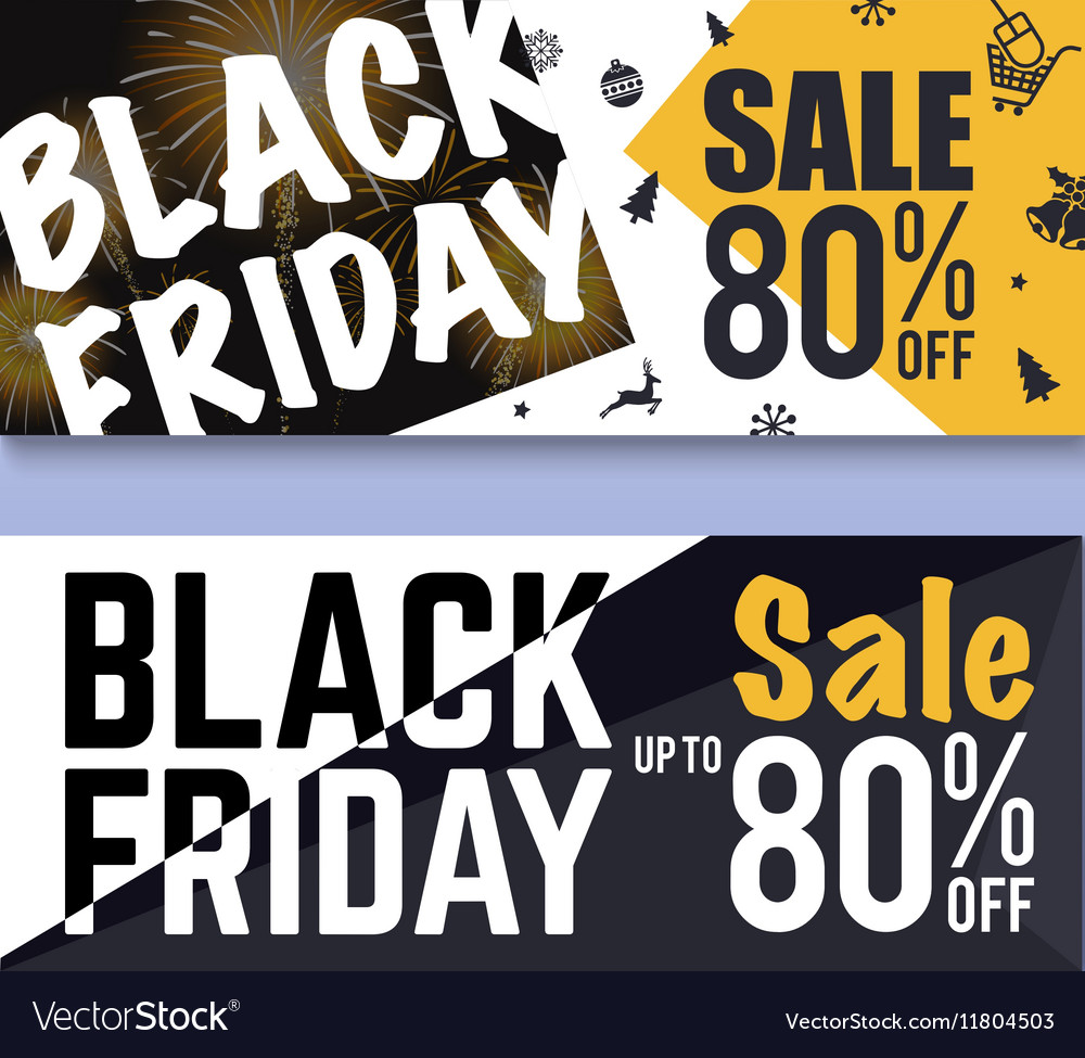 Black Friday Sale Banner Background