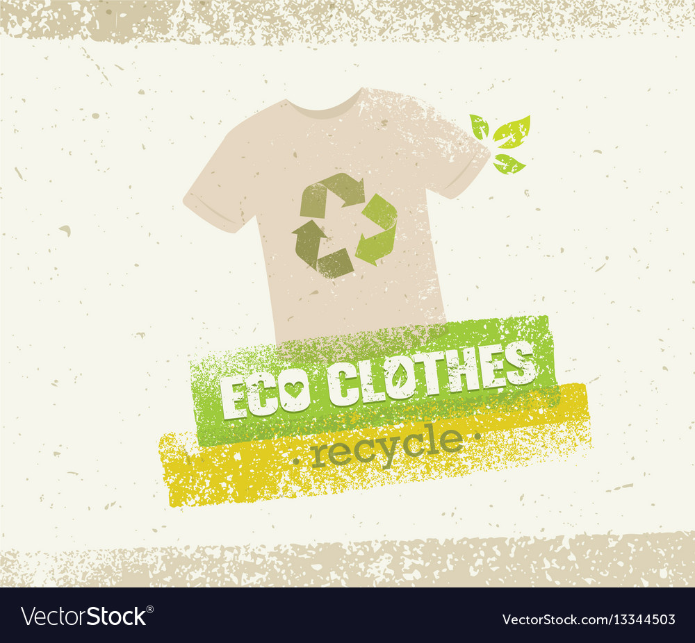 Eco Green Clothes Recycle Concept On