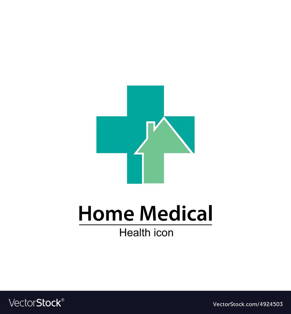 Home Medical Symbol Health Icon Nursing Home Vector Image