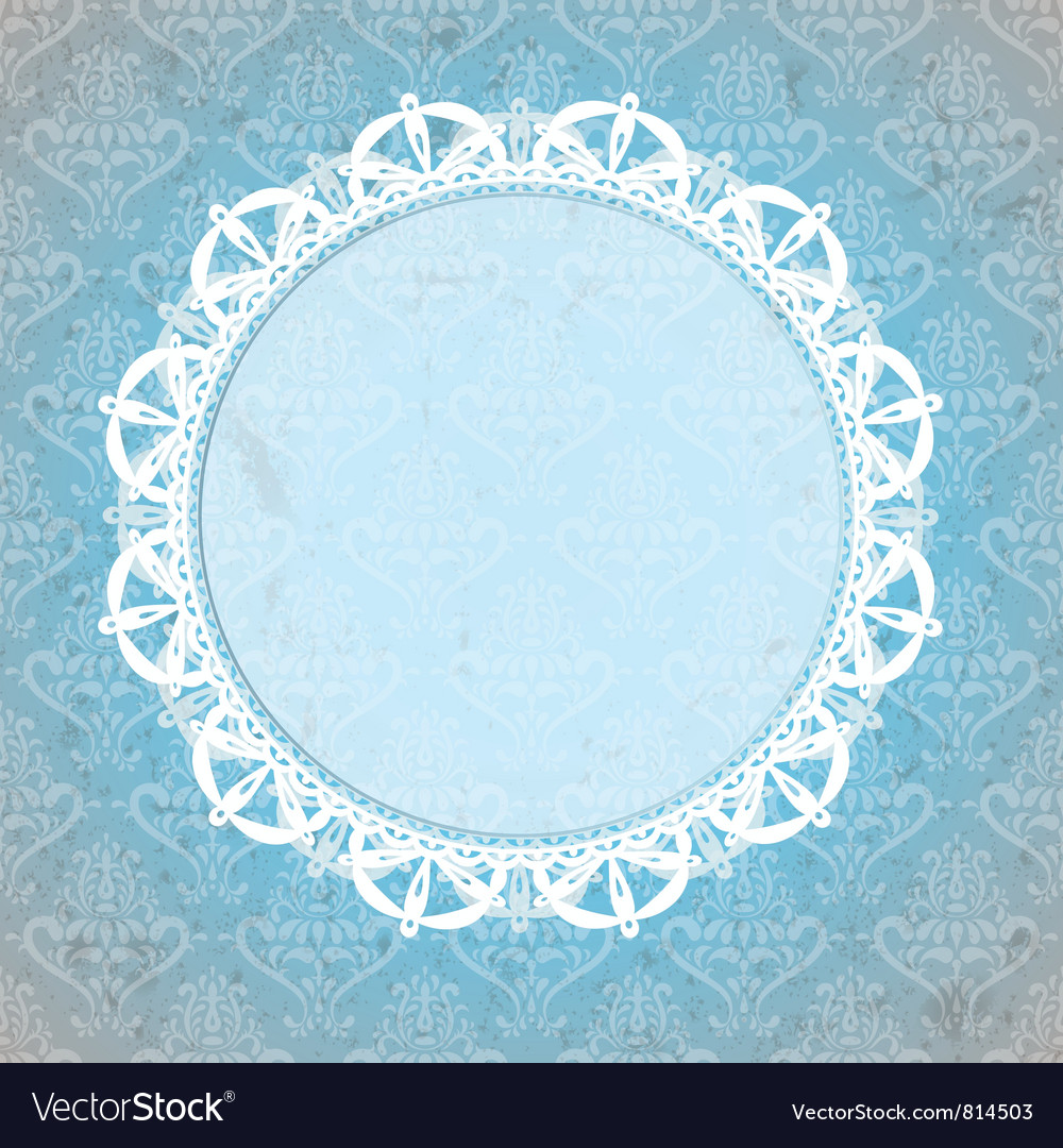 Lace background vector image