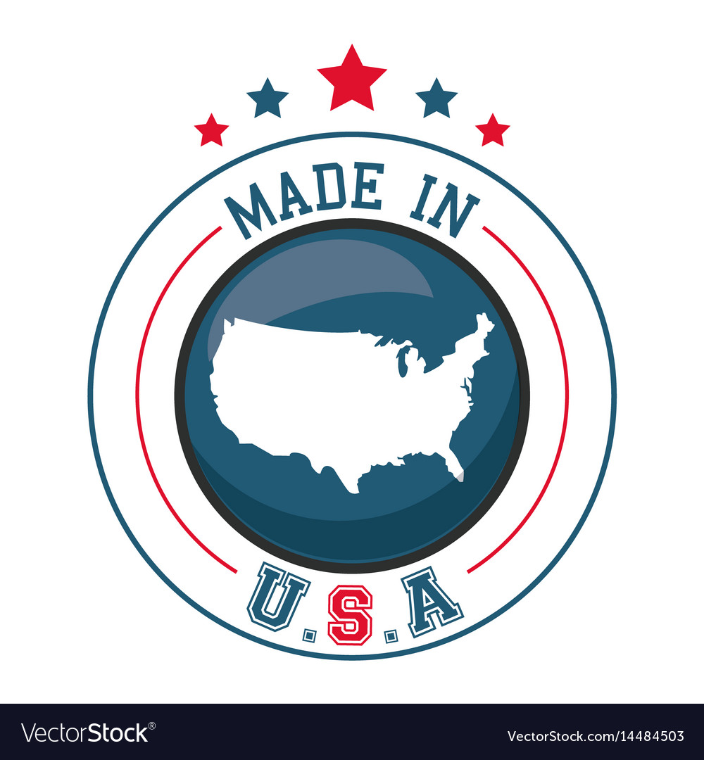 Made in usa map badge image