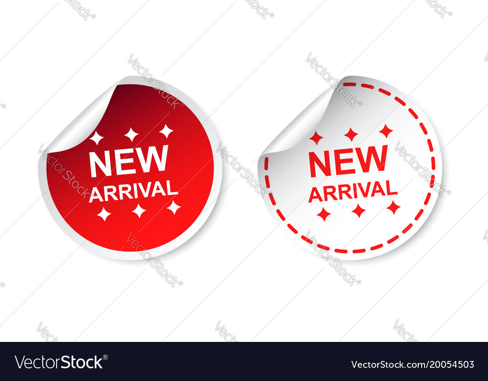 3ef7d30b New arrival sticker business sale red tag label Vector Image