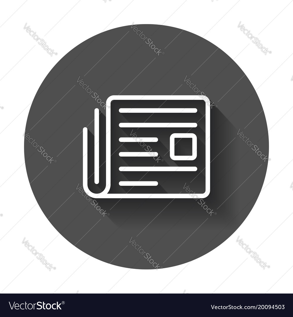 newspaper flat icon news symbol logo on black vector image