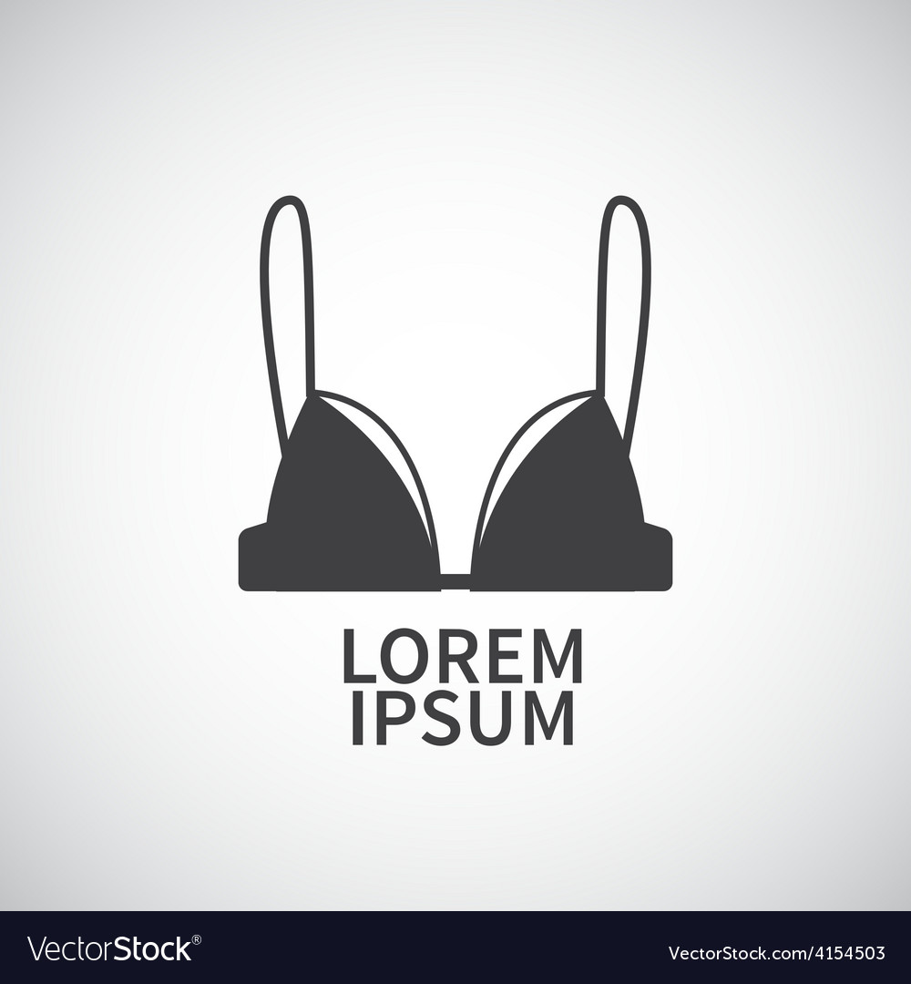 Nursing bra icon design element vector image