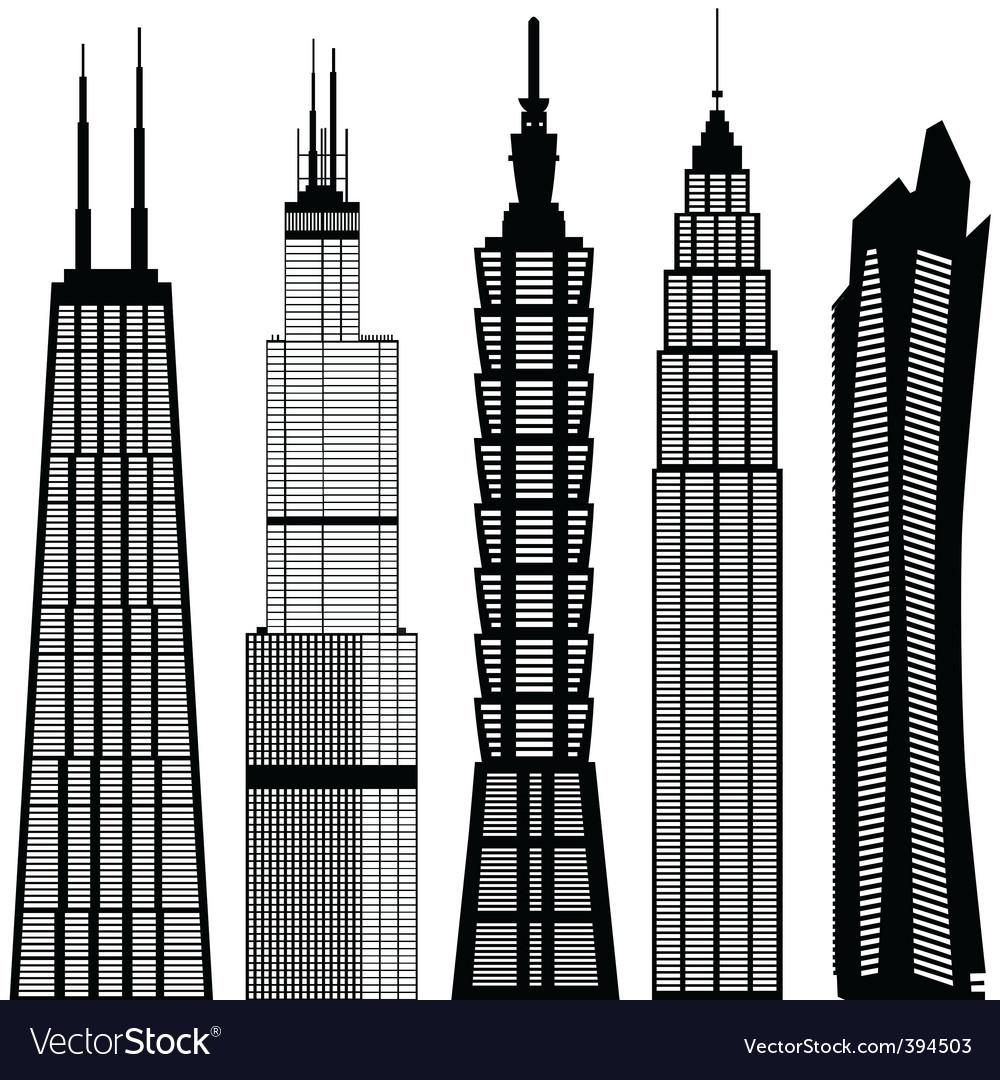 skyscraper buildings royalty free vector image rh vectorstock com skyscraper icon vector skyscraper silhouette vector