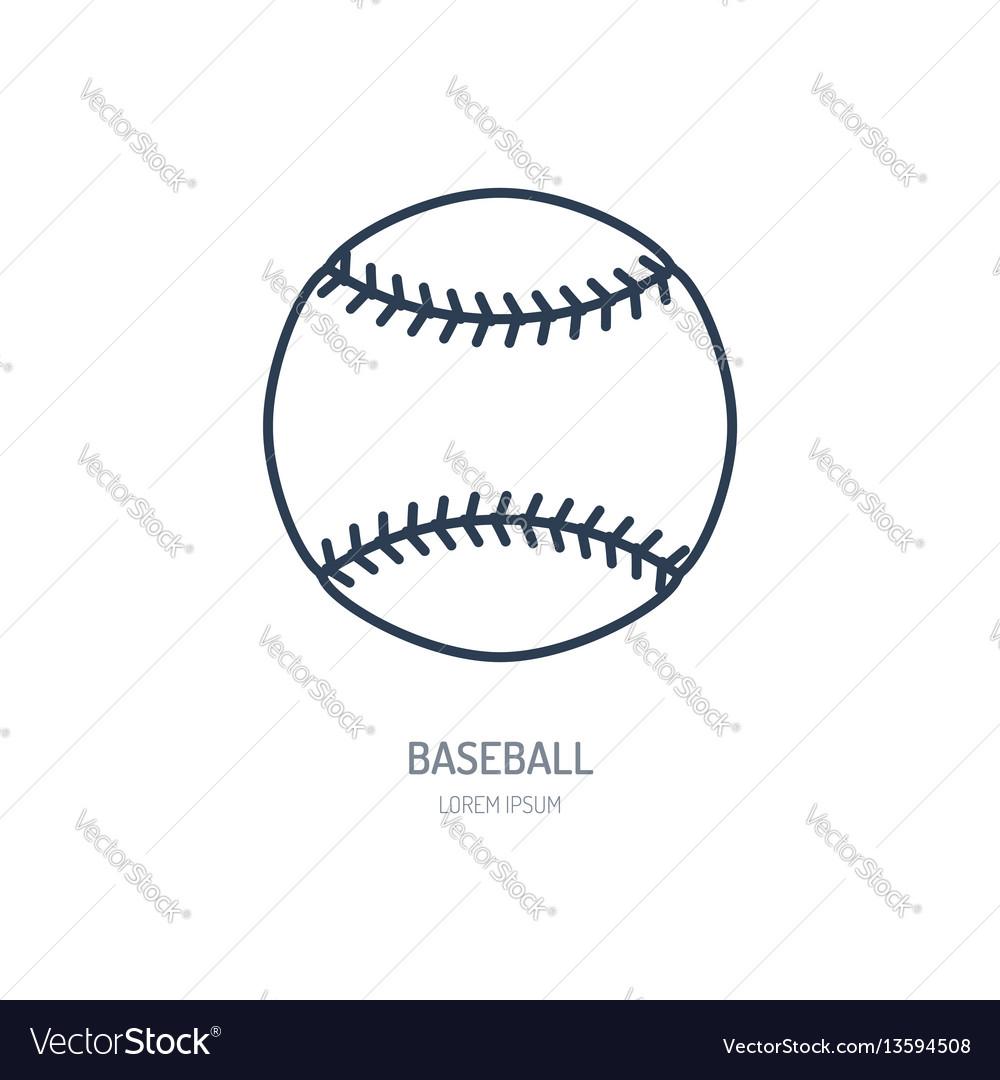 Baseball softball line icon ball logo