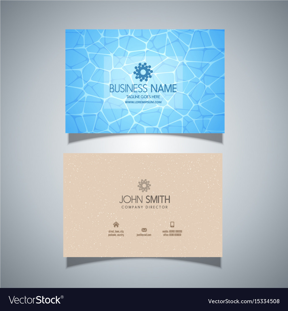 Business card with swimming pool water texture vector image colourmoves