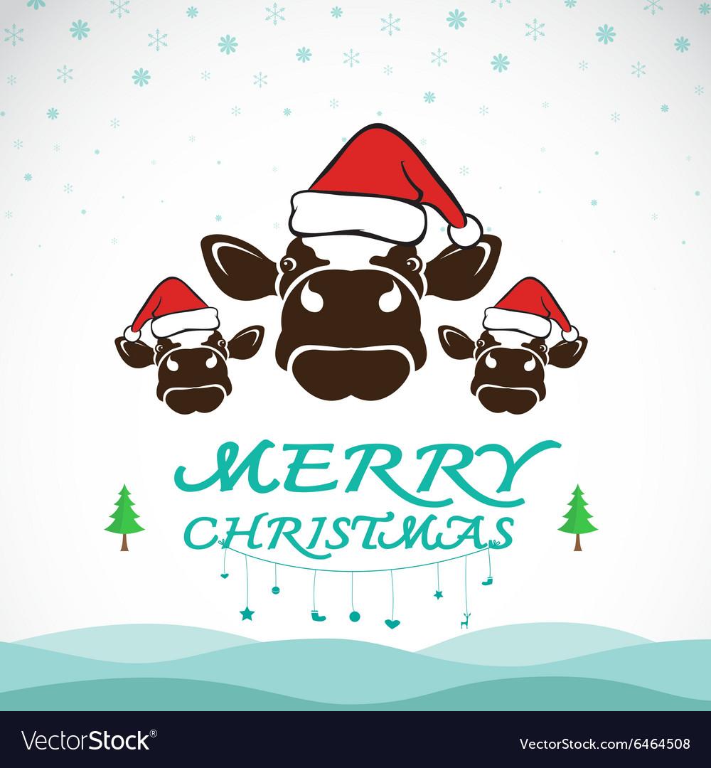 Christmas Cow.Cow Merry Christmas