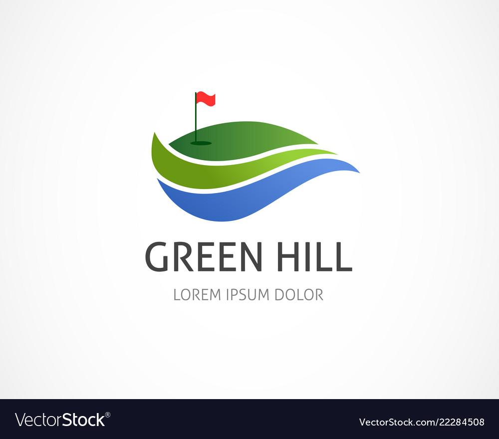 Golf club icon symbol element and logo