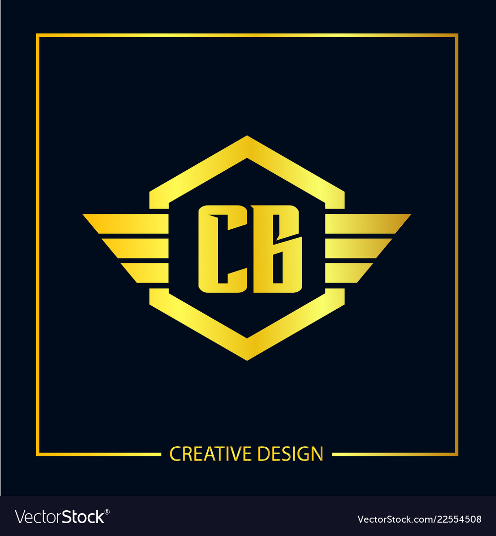 Initial Letter Cb Logo Template Design Royalty Free Vector