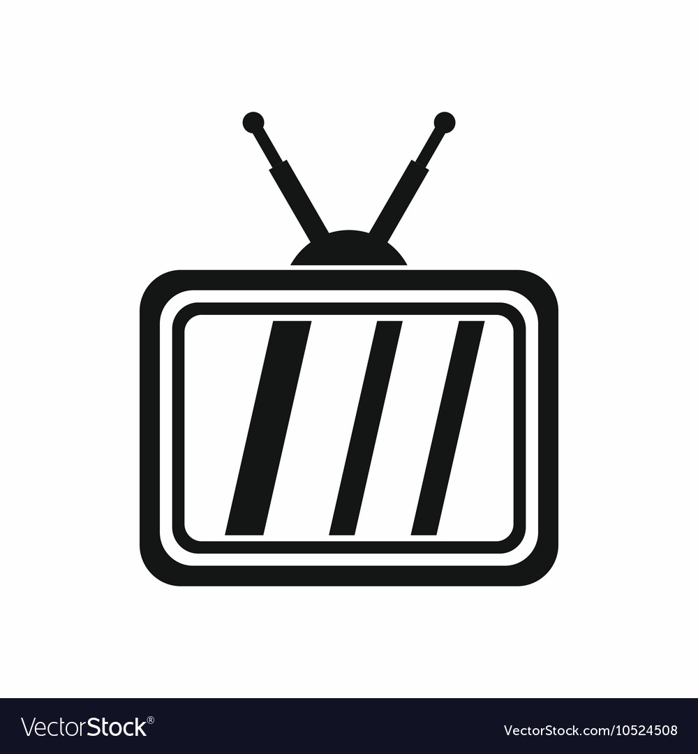 Retro TV icon simple style