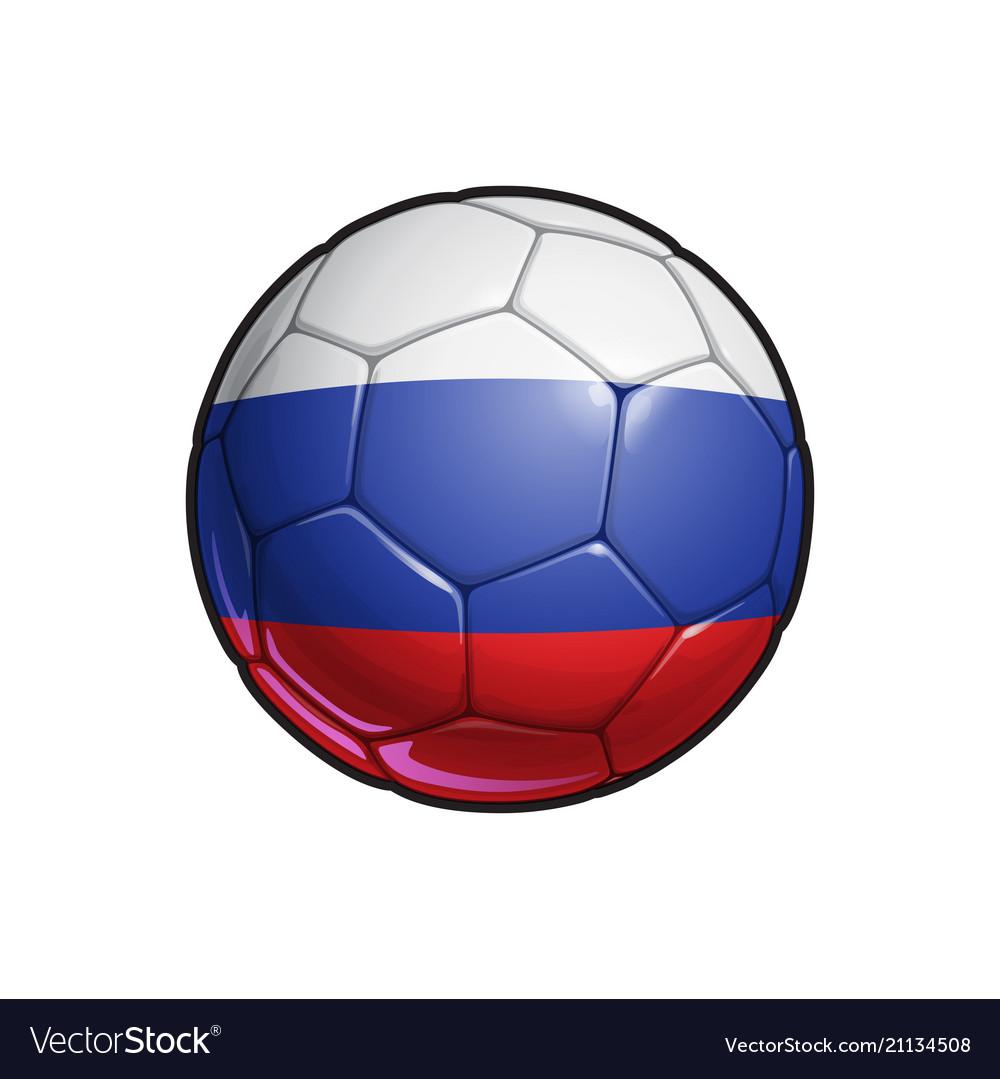 Russian flag football - soccer ball
