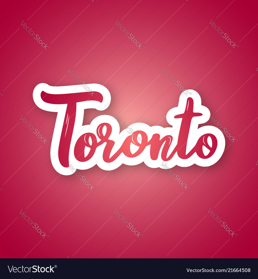 Toronto - handwritten name of the canadian city