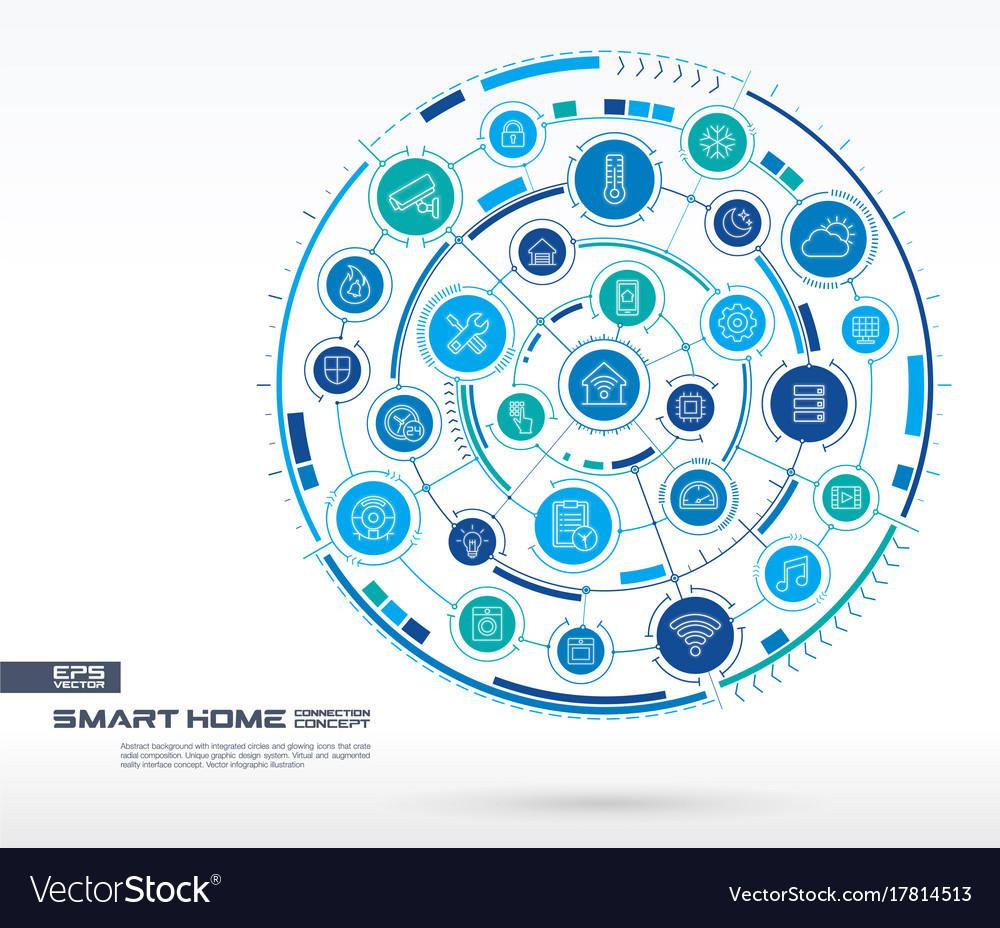Abstract smart home technology background digital