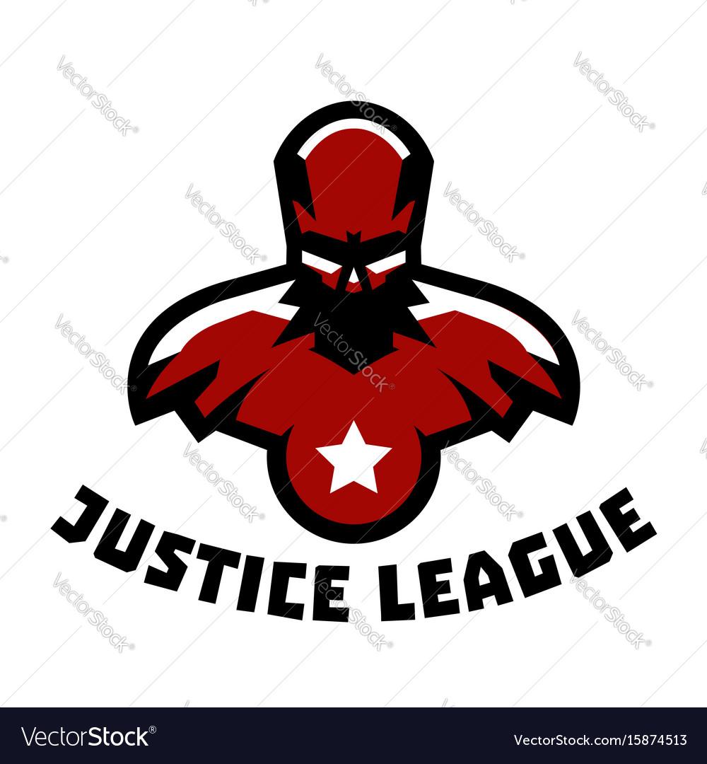 Logo superhero superman costume justice league
