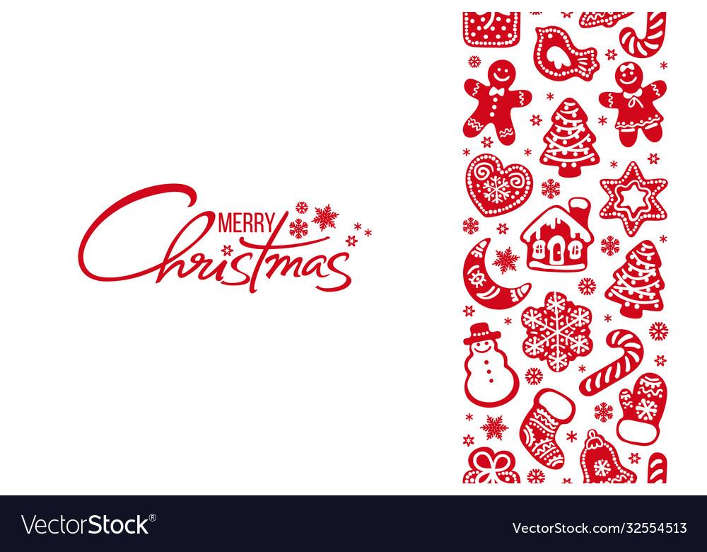 Merry christmas greeting card handwritten text