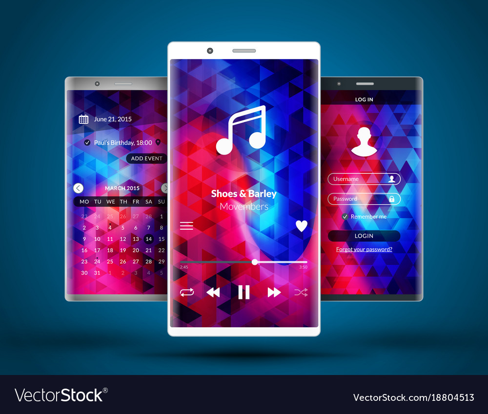Mobile Interface Wallpaper Design Abstract