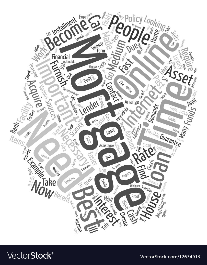 Online Mortgages text background wordcloud concept