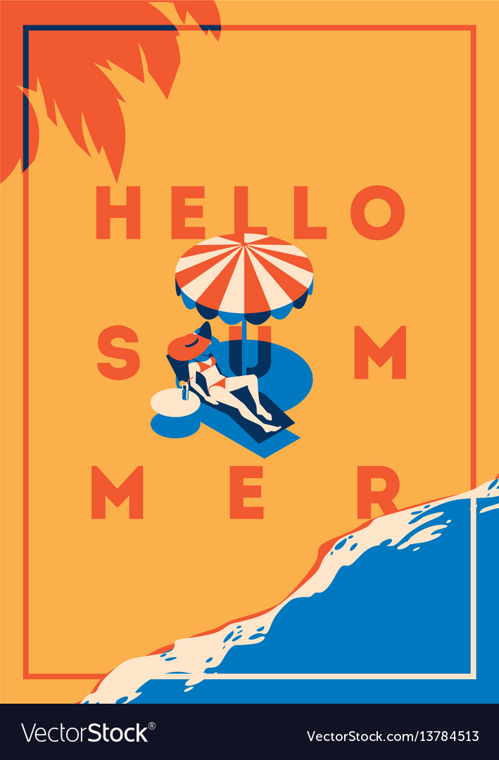 Summer holiday and summer camp poster