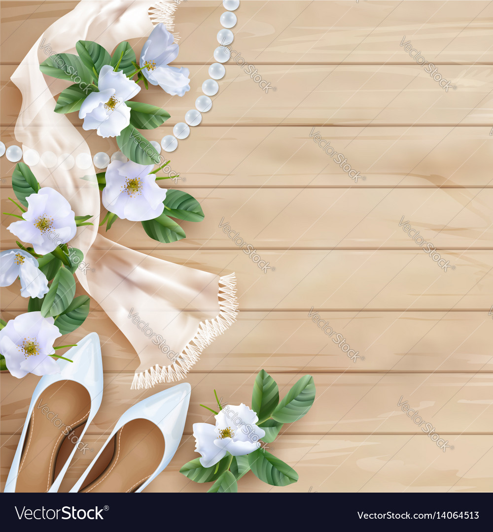 Wedding Floral Background Royalty Free Vector Image