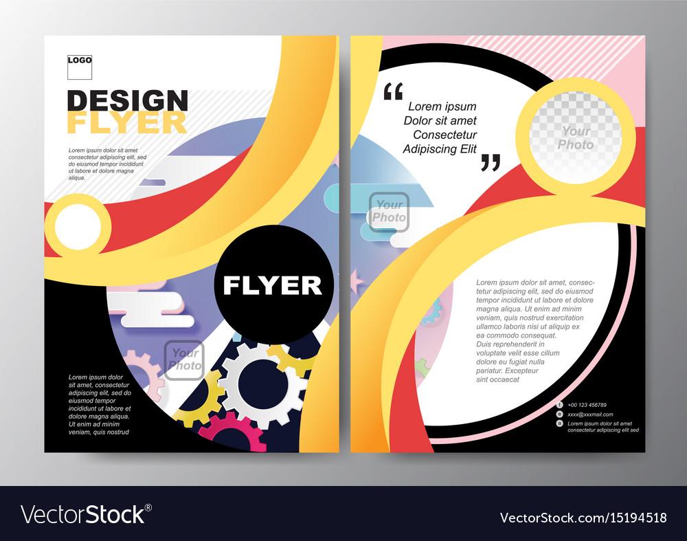 colorful curve poster brochure flyer design layout