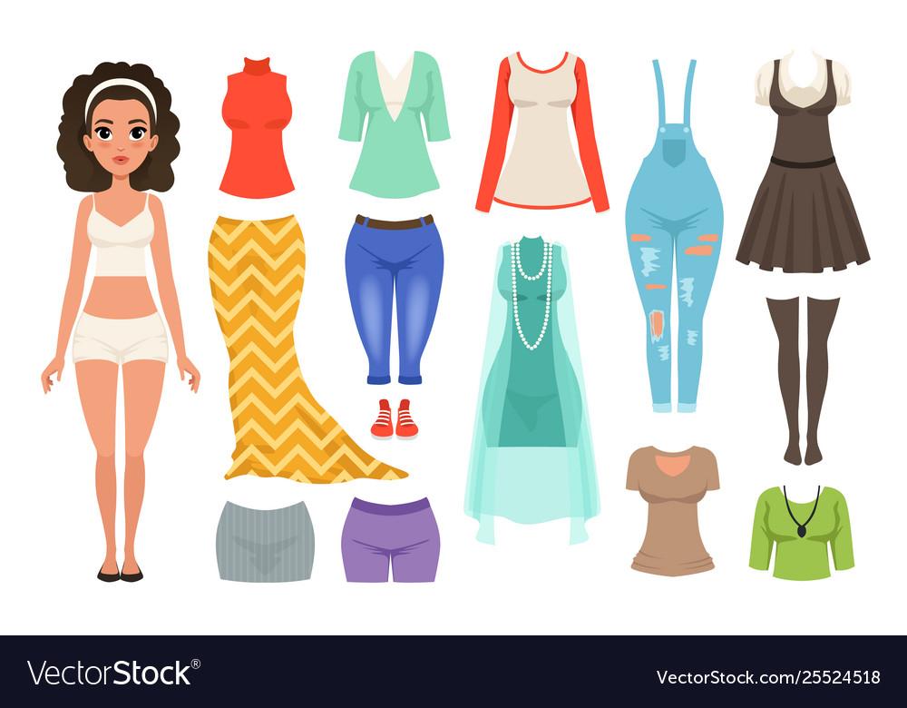Flat set women s clothes items stylish