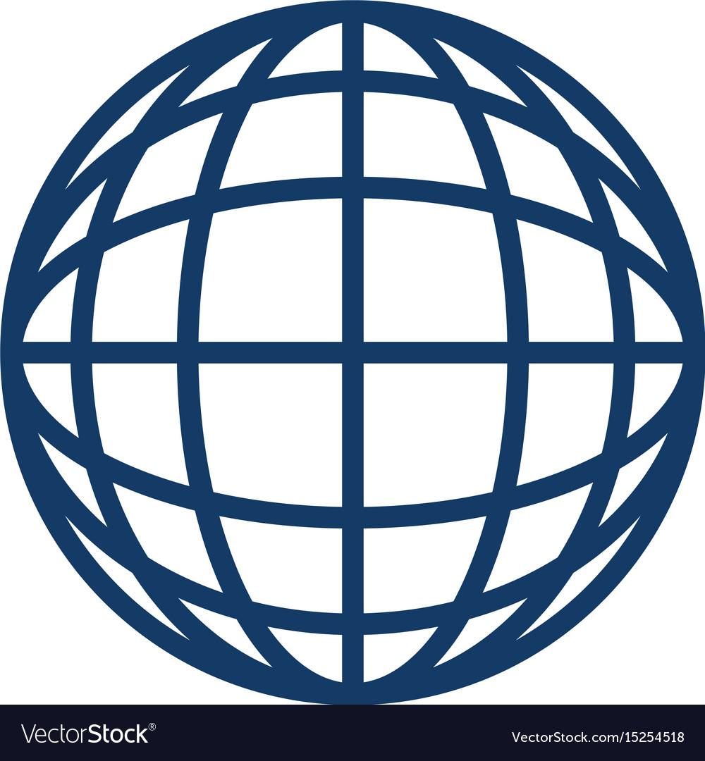 global sphere icon royalty free vector image vectorstock rh vectorstock com vector sphere rc drone vector sphere