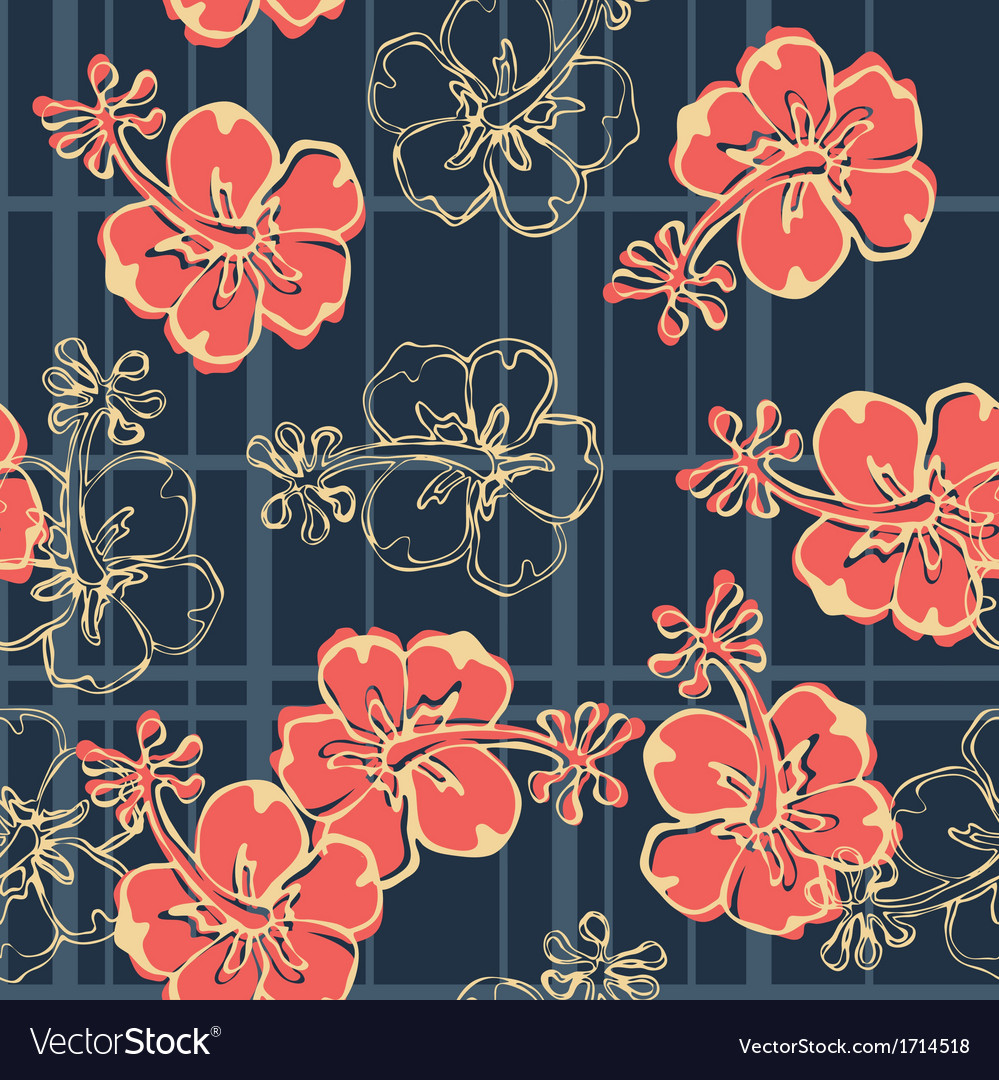 hibiscus flowers wallpaper royalty free vector image