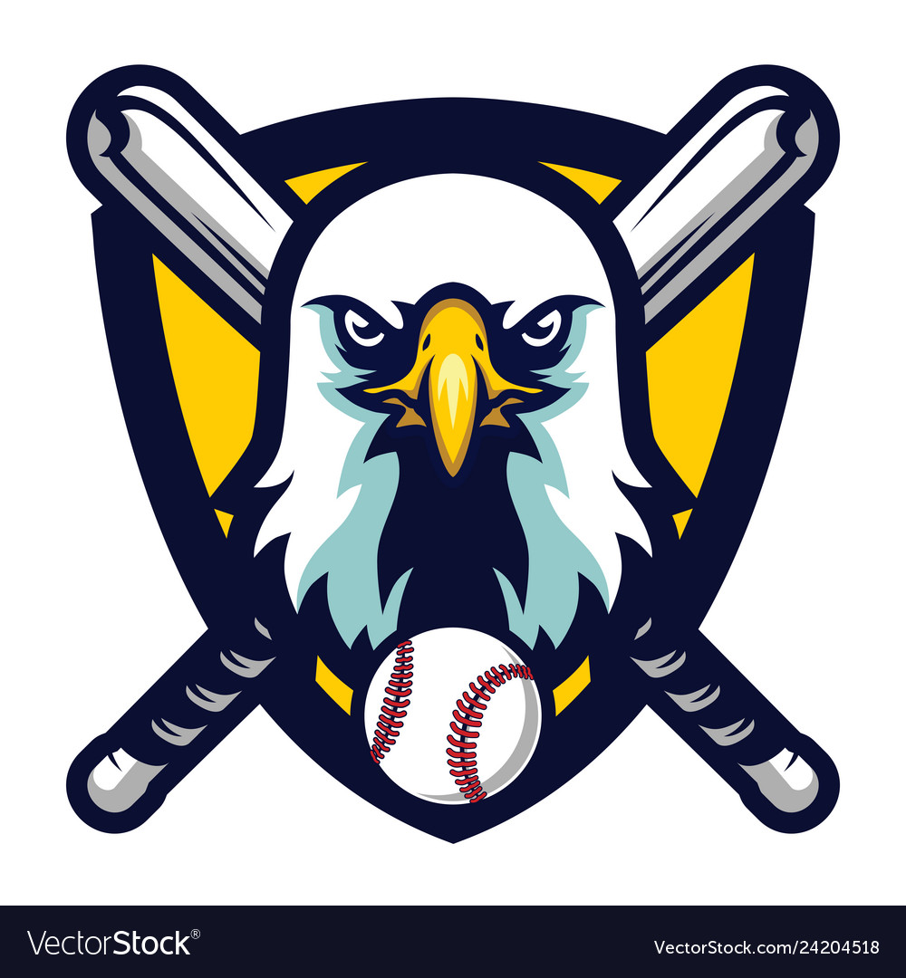 Modern professional eagle baseball team logo badge