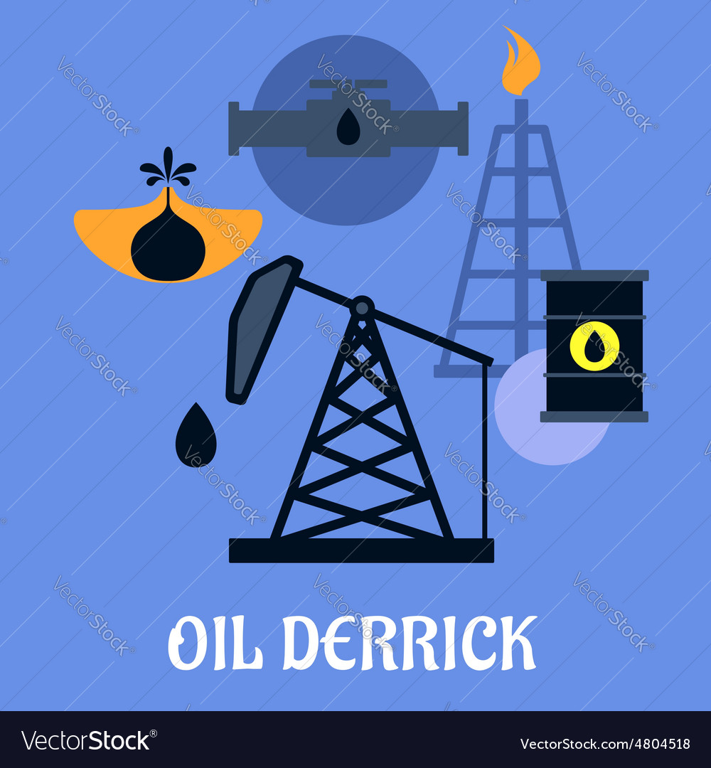 Oil derrick and mining concept