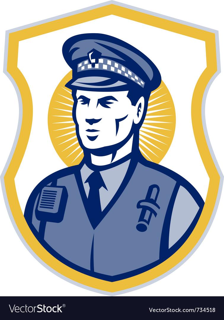 Police officer policeman security guard set i