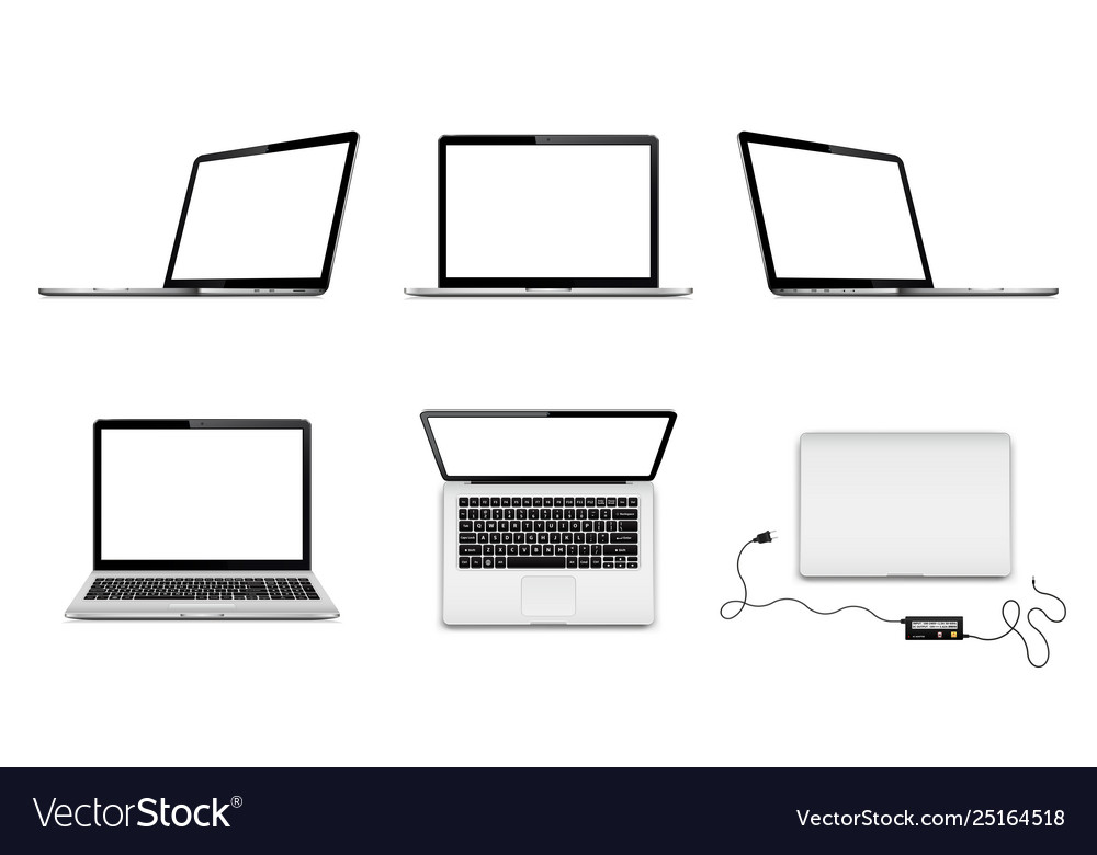 Set laptops with blank screen in