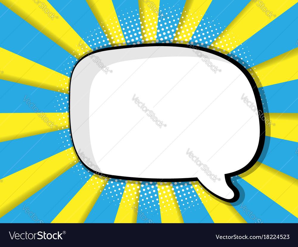 Abstract blank speech bubble comic book