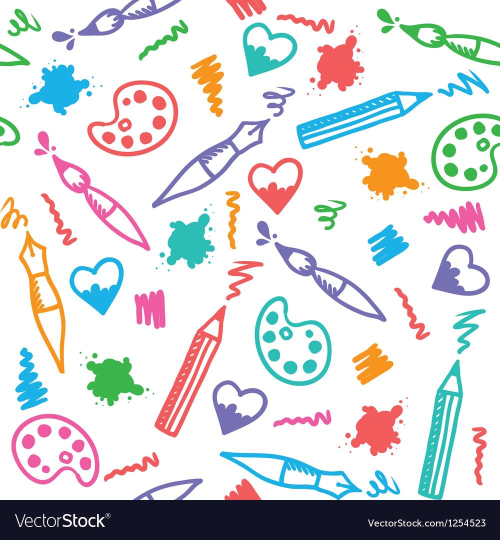 Art pattern vector image
