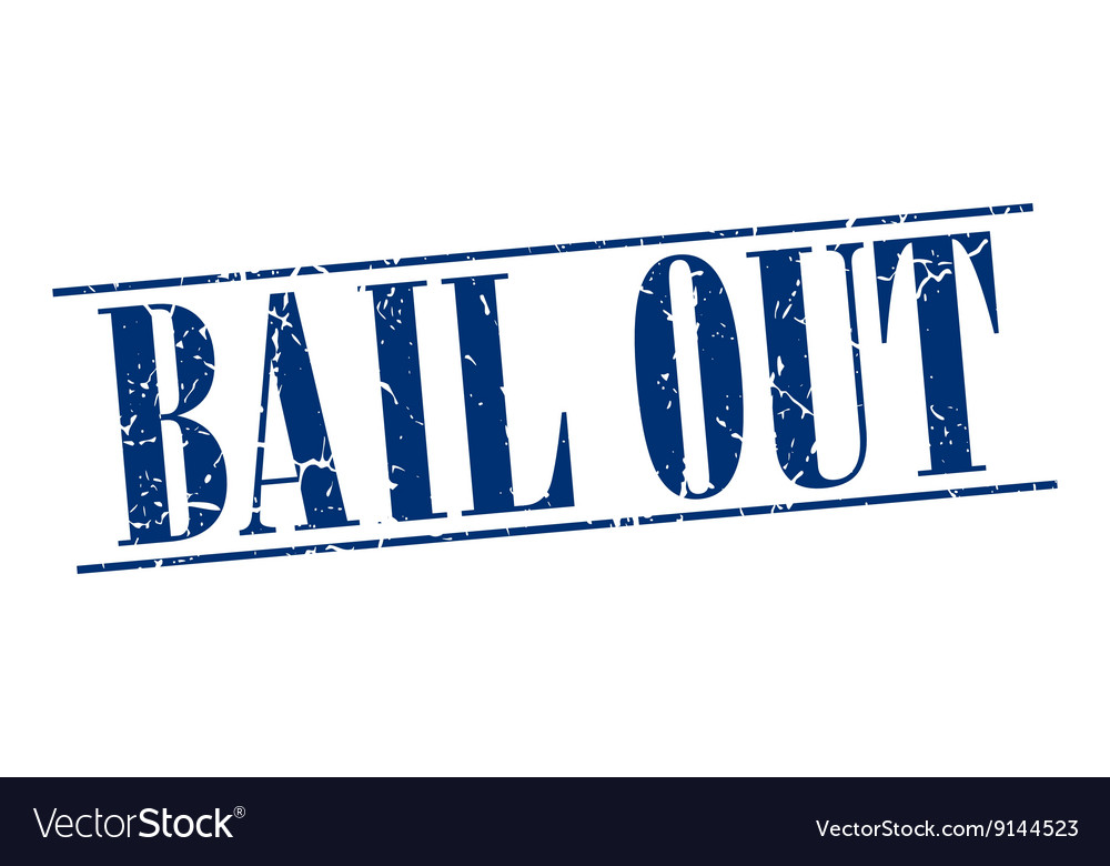 Bail out blue grunge vintage stamp isolated on vector image