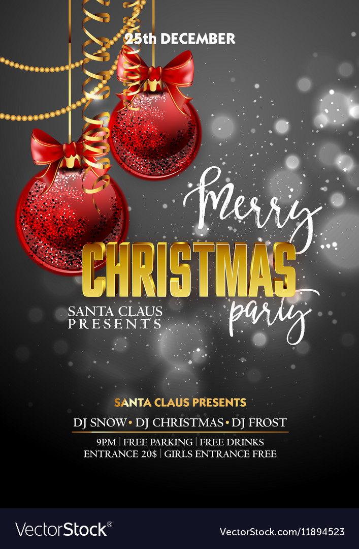 Christmas Party design template with decoration