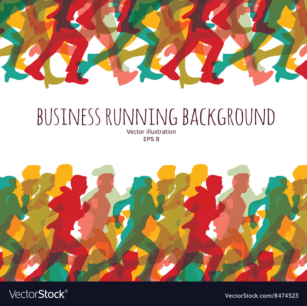 Color crowd people business run carrier background