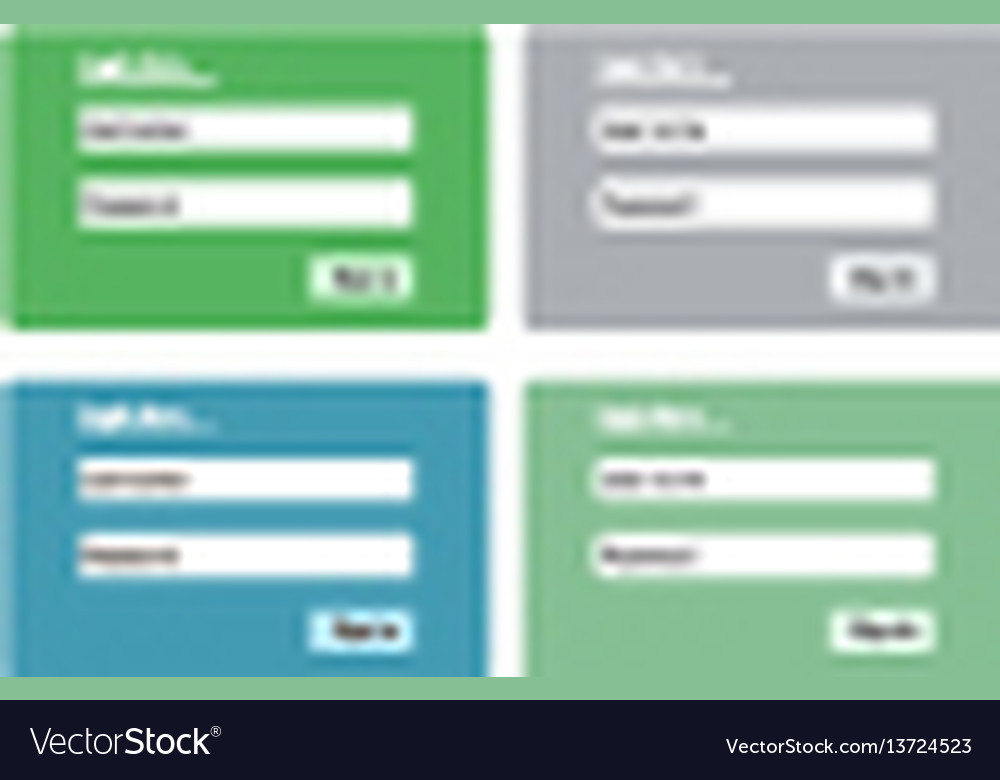 Log in form for web site